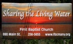 First Baptist Church of Many - Billboard
